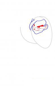 How to draw Kakasha's face step by step 3