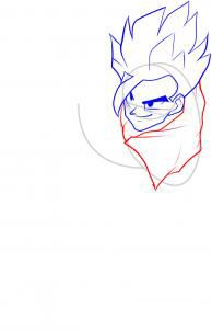How to draw Kakasha's face step by step 5