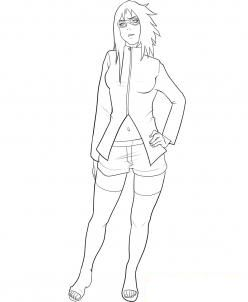 How to draw Carine from Naruto karagdashy step by step