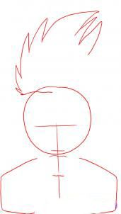 How to draw Gaara from Naruto 2
