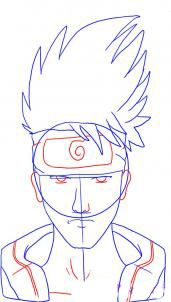 How to draw Gaara from Naruto 4