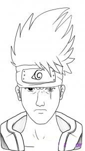 How to draw Gaara from Naruto 6