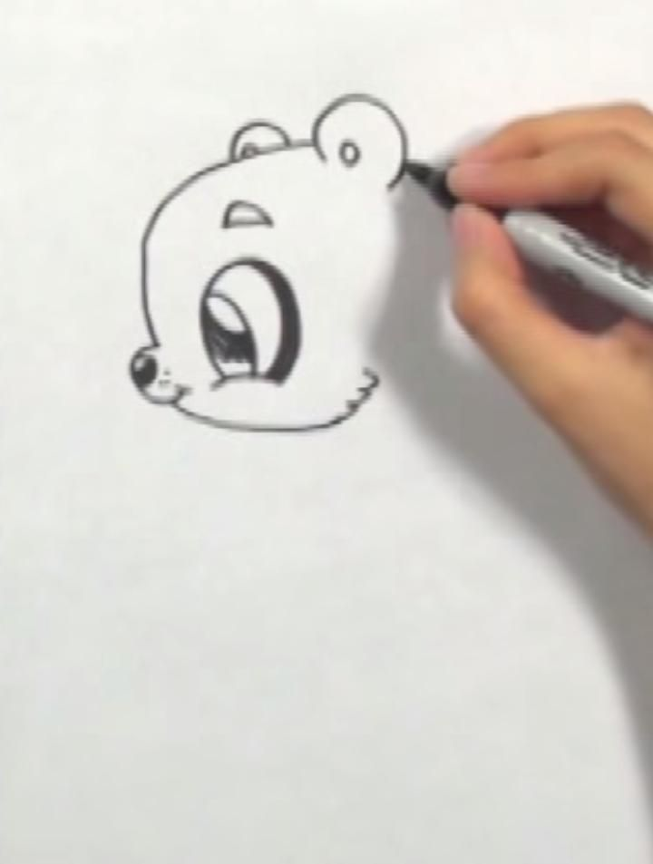 How to draw a Christmas puppy in style of a chiba with a simple pencil 3