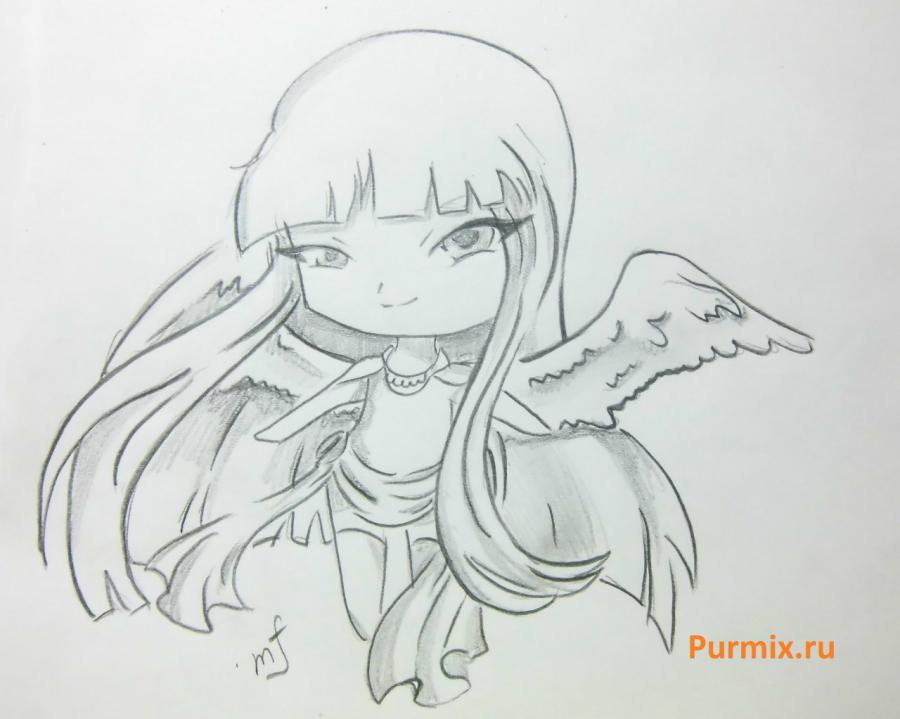 How to learn to draw chib of an angel a simple pencil