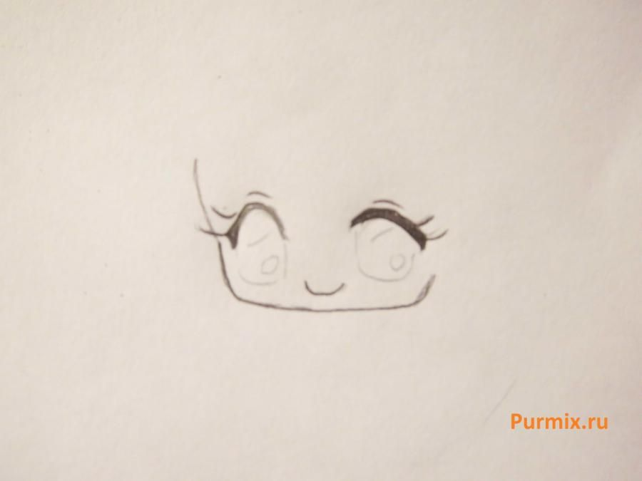How to learn to draw a rabbit in style of a chiba a simple pencil 3