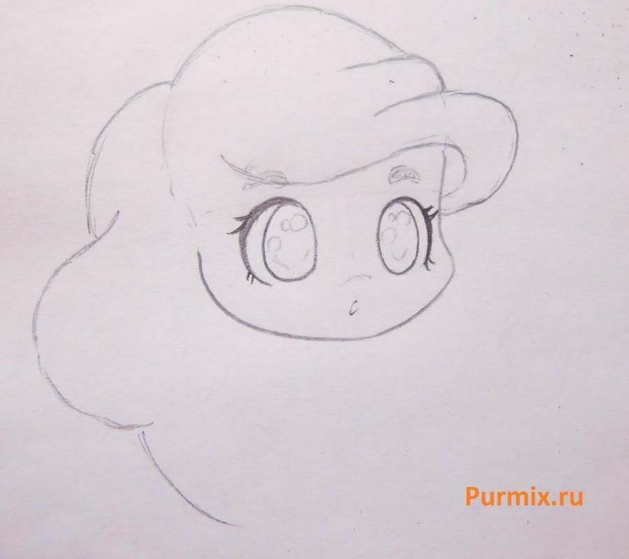 How to draw chib a she-wolf with a pencil step by step 7
