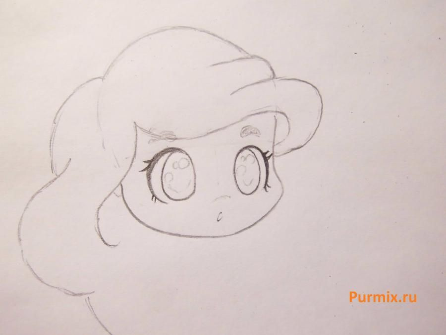 How to draw chib a she-wolf with a pencil step by step 8