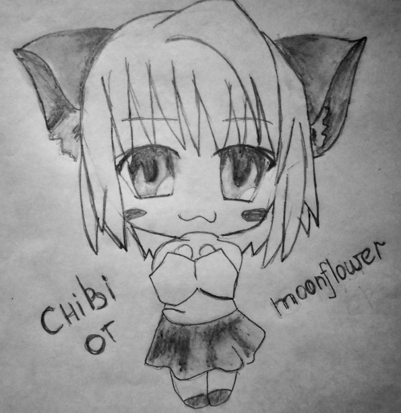 How to draw the girl in style of a chiba on paper