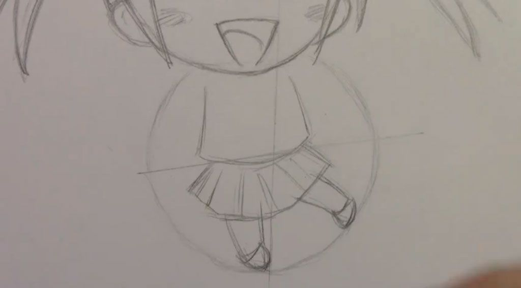 We learn to draw step by step chib the girl a pencil 5
