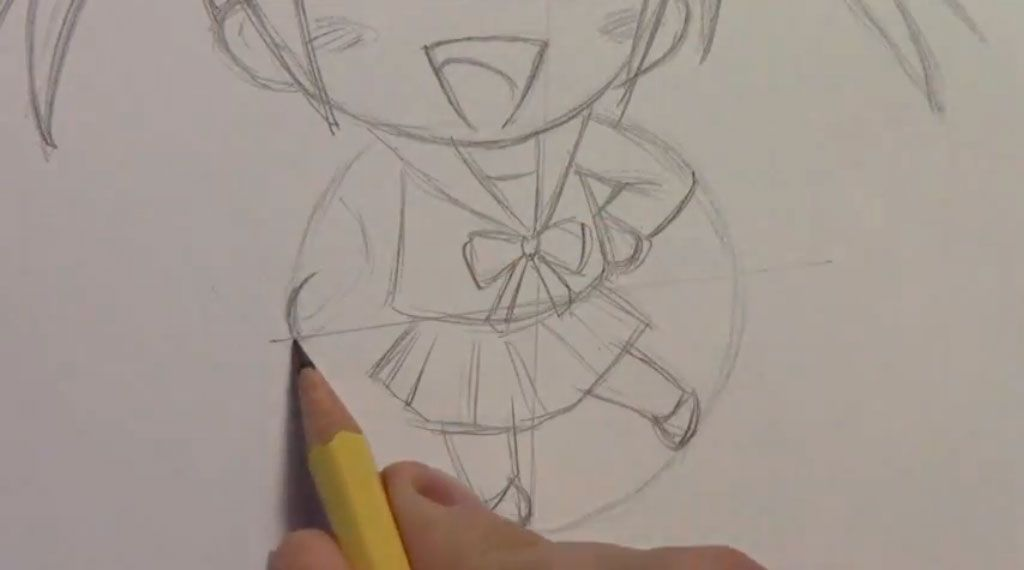 We learn to draw step by step chib the girl a pencil 6