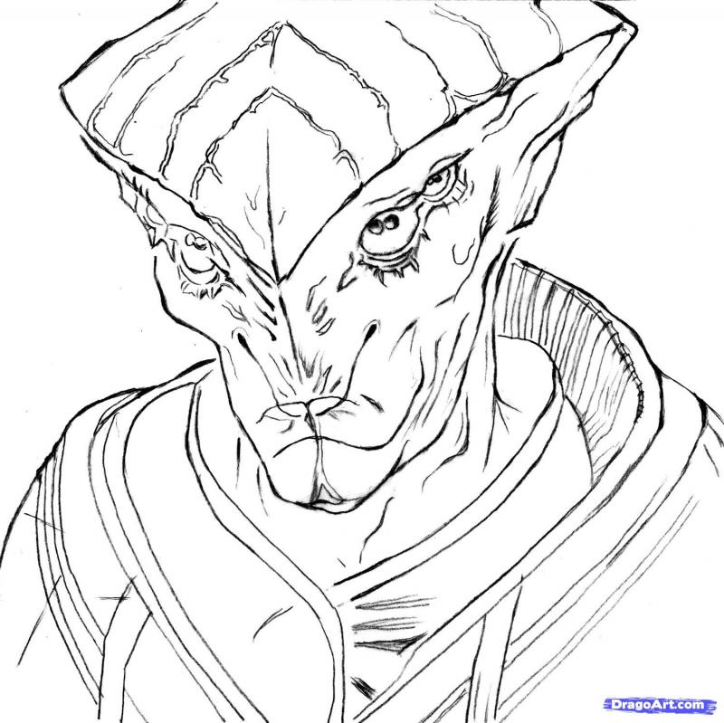 How to draw with Proteants's pencil from Mass Effect