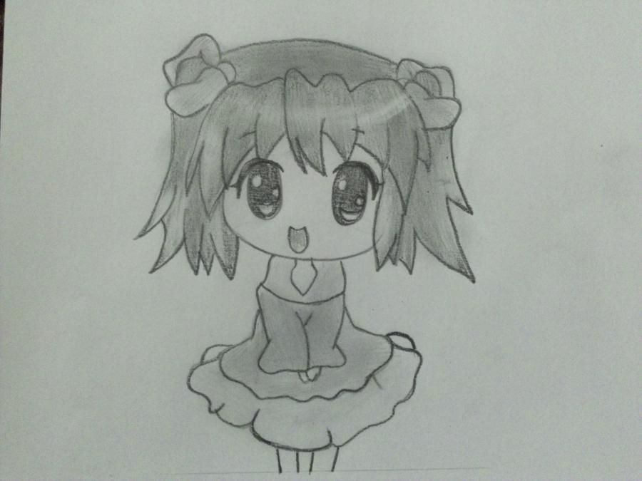 We learn to draw step by step chib the girl a pencil
