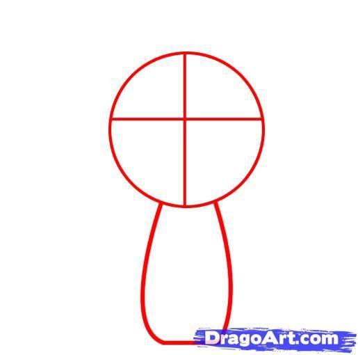 How to draw chib of an angel with a simple pencil step by step 2