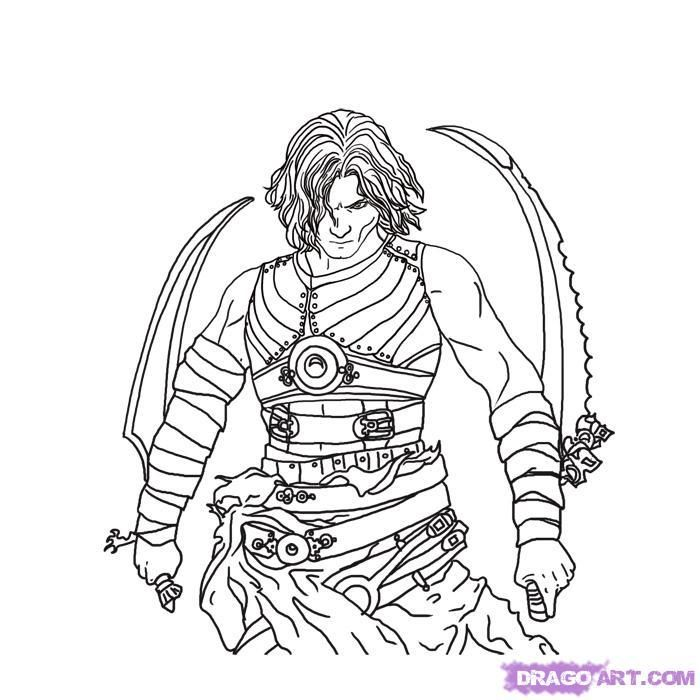 How to draw the prince of Persia (Prince of Persia) on paper with a pencil