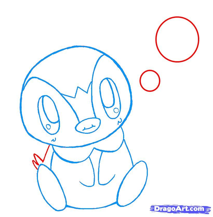 How to draw penguin chib with a pencil step by step