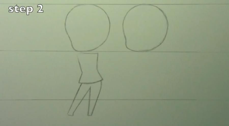 How to draw chib the Torah with a simple pencil step by step 2