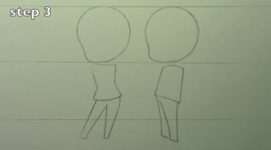 How to draw chib the Torah with a simple pencil step by step 3