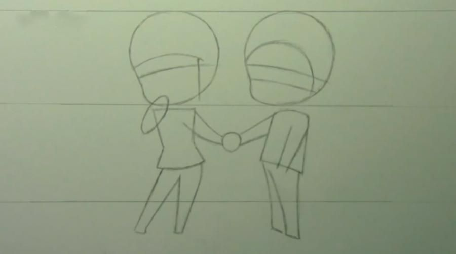 How to draw chib the Torah with a simple pencil step by step 4