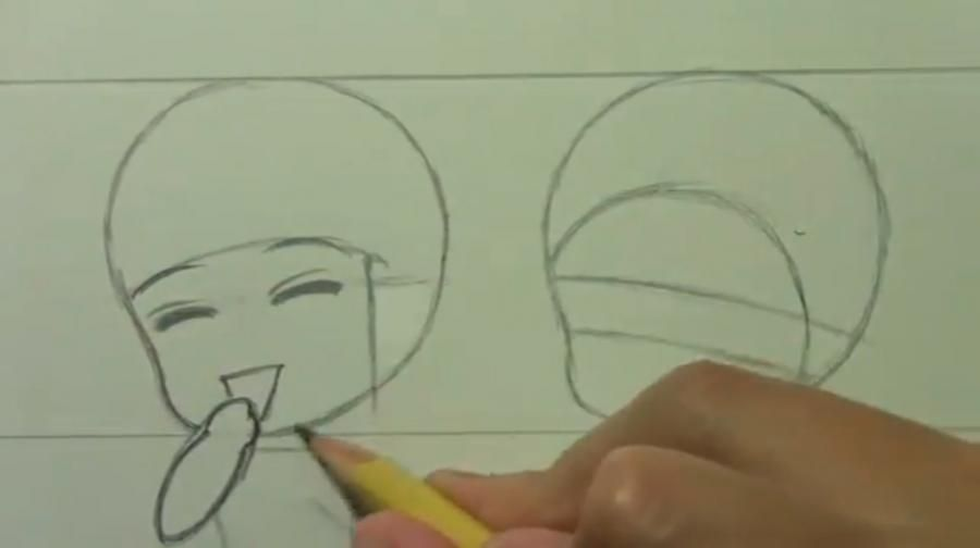 How to draw chib the Torah with a simple pencil step by step 5
