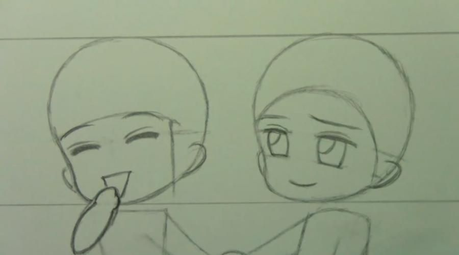 How to draw chib the Torah with a simple pencil step by step 6