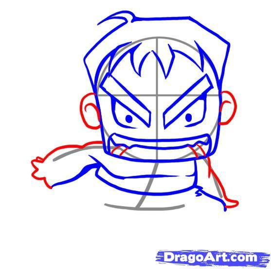 How to draw Connor Kenueya's chib with a pencil step by step 6