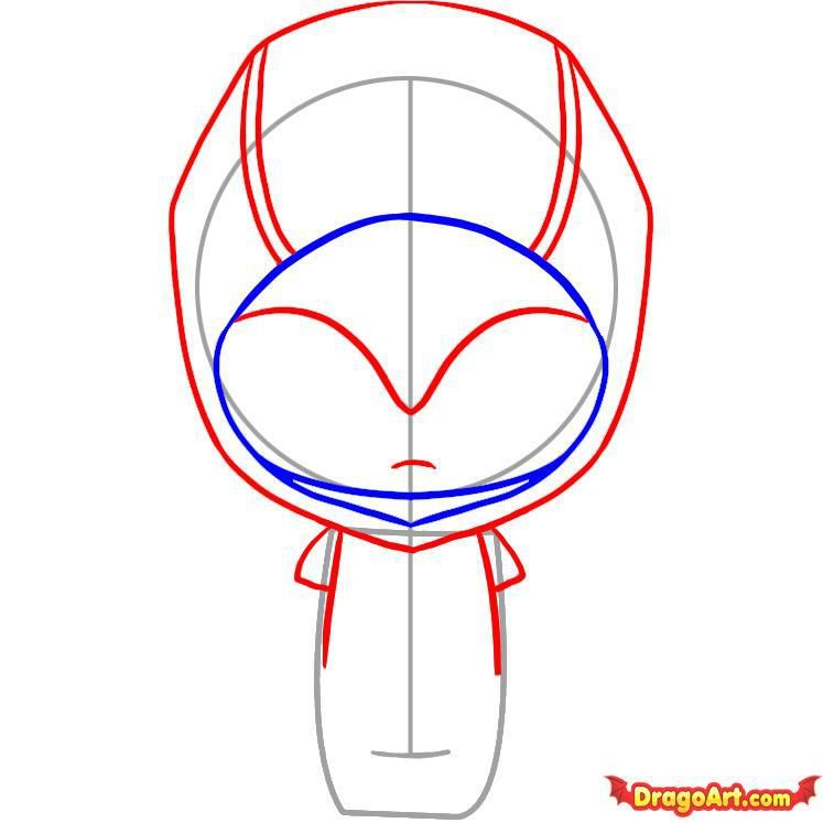How to draw Freddie Kruger's chib with a pencil step by step 4