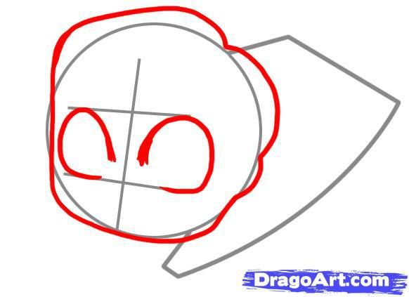 How to draw chib the Little Mermaid with a simple pencil step by step 3