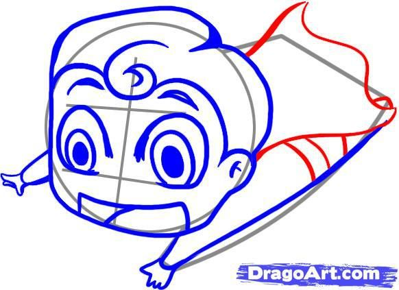 How to draw chib the Little Mermaid with a simple pencil step by step 5