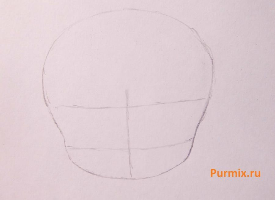 How step by step to draw a water-melon segment in style of a chiba 2