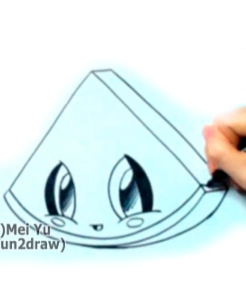 As simply and quickly to draw kitten chib with a pencil step by step 4