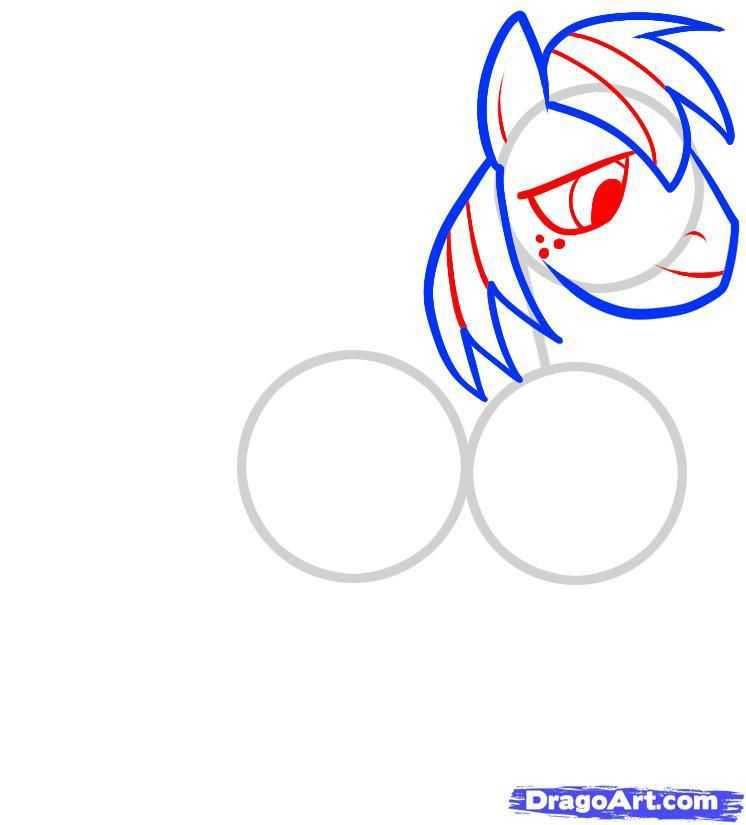 How to draw a pony of Twilight Sparkle with a pencil step by step 4