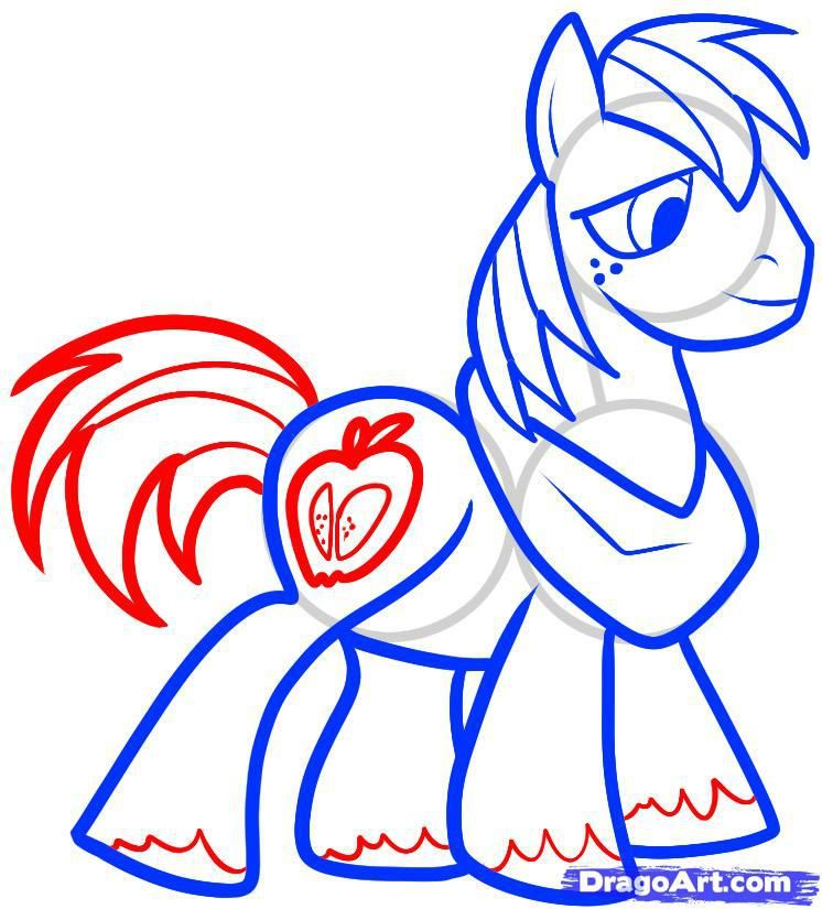 How to draw a pony of Twilight Sparkle with a pencil step by step 7
