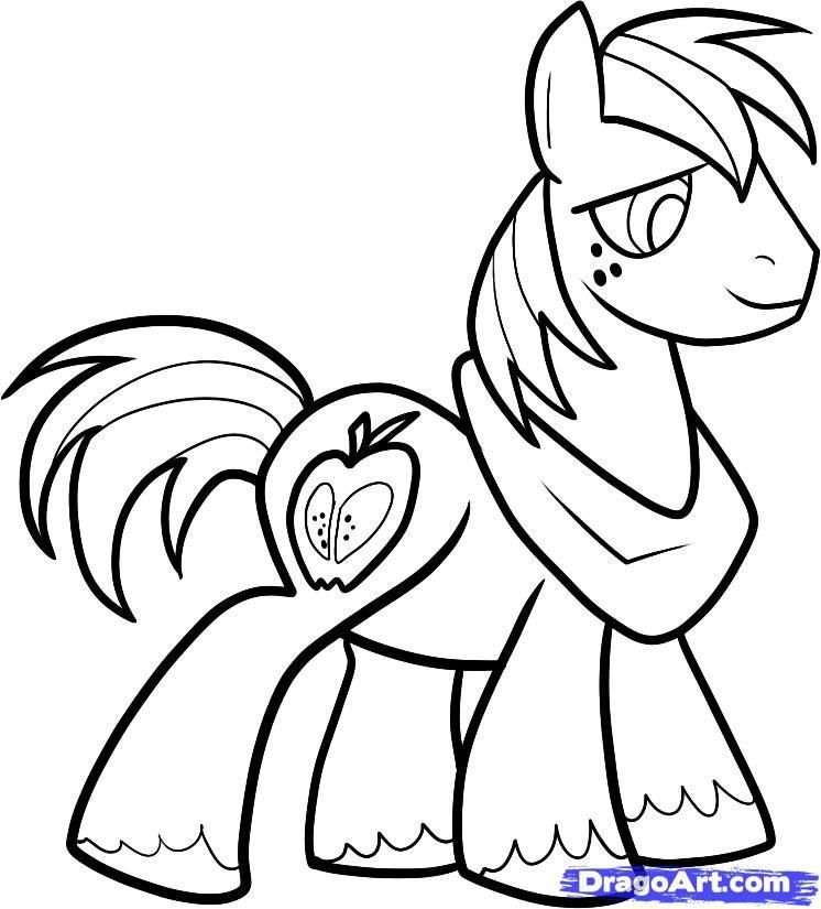 How to draw a pony of Twilight Sparkle with a pencil step by step 8