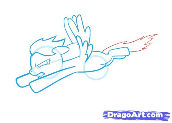 How to draw Rariti's unicorn the friendship is a miracle a pencil step by step 5