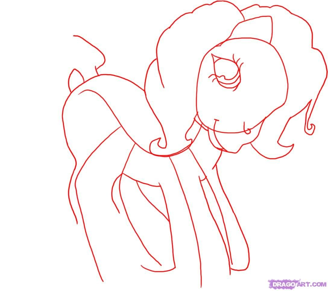 How to draw a unicorn the Twilight Sparkle (Tvaylayt Sparkl) with a pencil step by step 2
