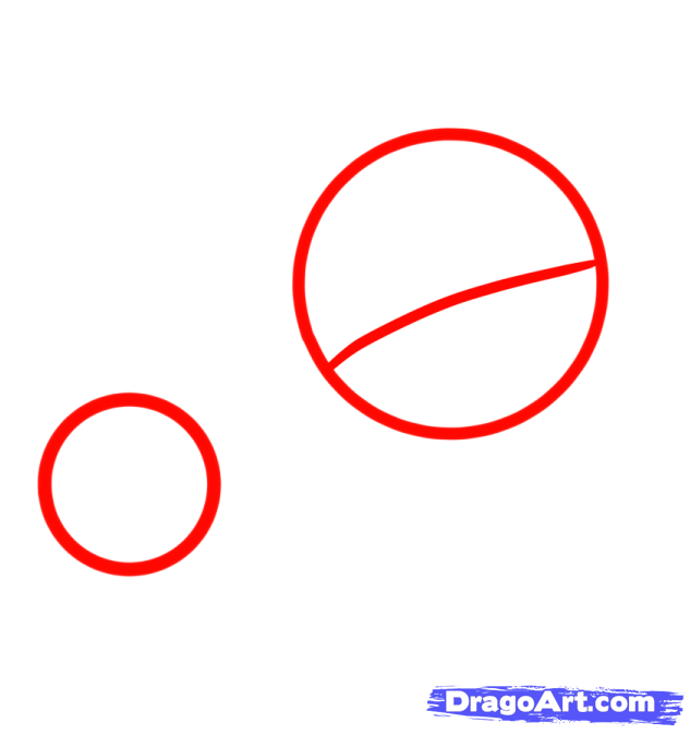 How to draw the Crumb B?ll with a pencil step by step 2