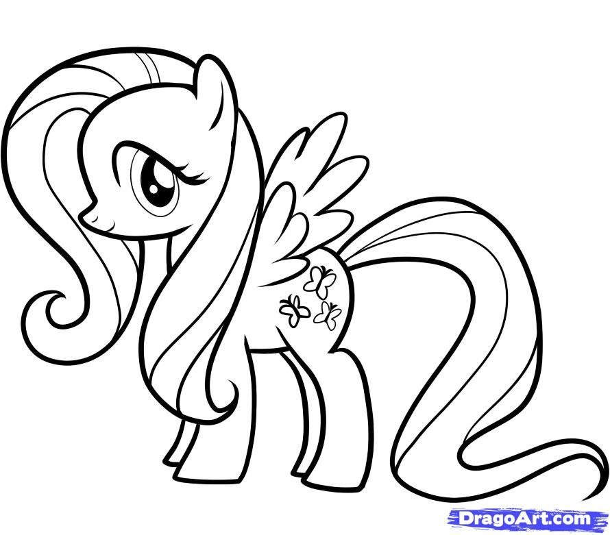 How to draw a pony of Flattershay the friendship is a miracle a pencil step by step