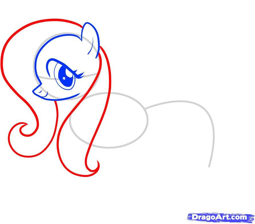 How to draw Skutala (Scootaloo) from the Friendship is a miracle a pencil step by step 6
