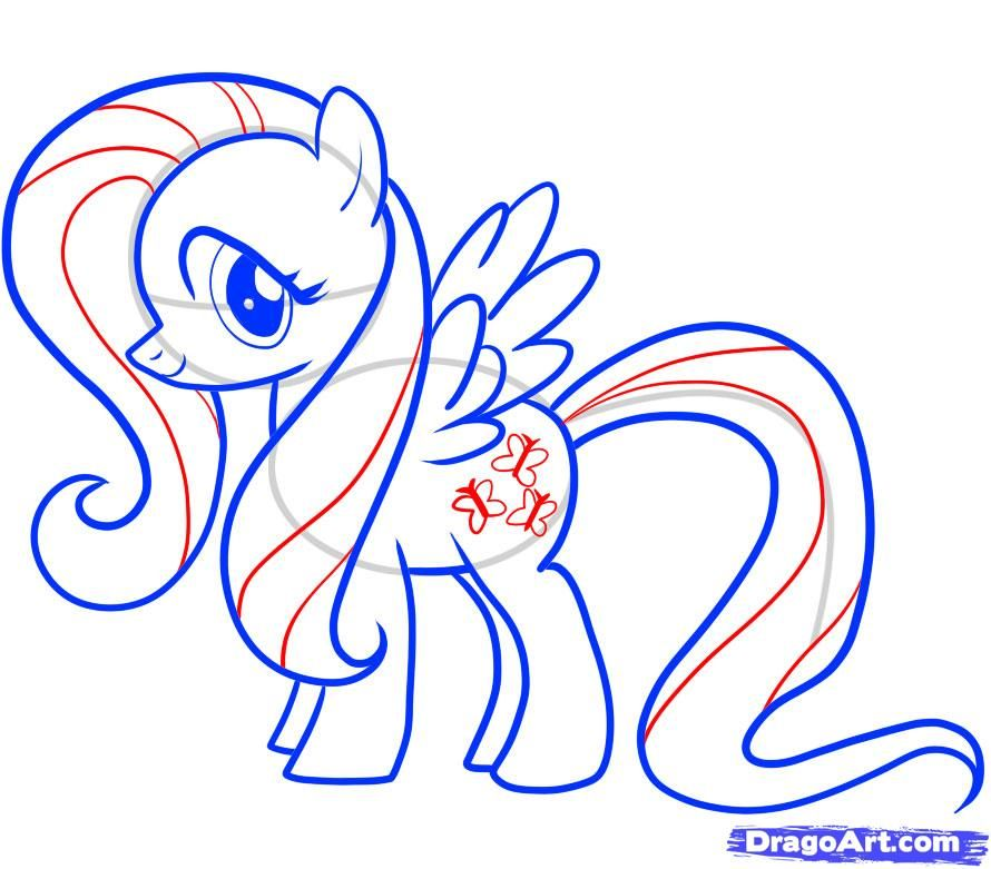How to draw Skutala (Scootaloo) from the Friendship is a miracle a pencil step by step 10
