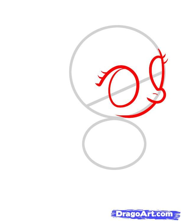 How to draw a pony of Derpi (Derpy) with a pencil step by step 3