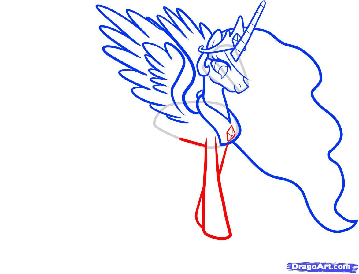 How to draw the King Sombr (King Sombra) from MLP with a pencil step by step 7