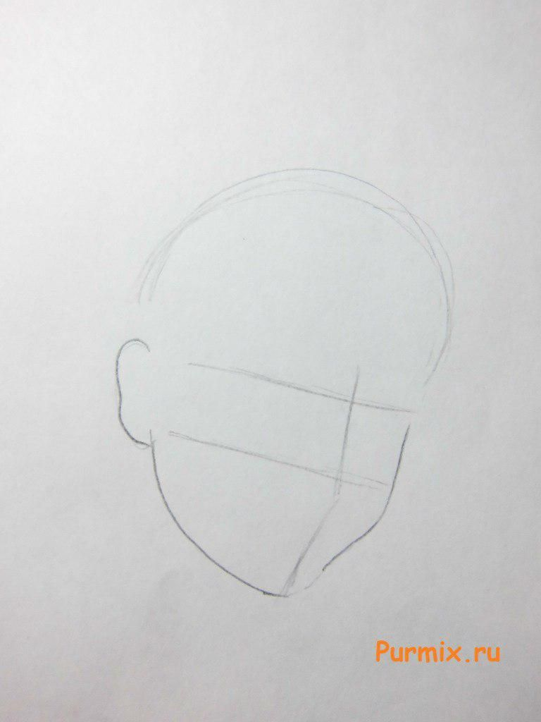 How to draw Vinks in a profile to the utmost with a pencil step by step 2