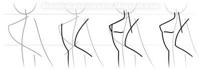 How to draw Flora from Vinks with a pencil step by step 4