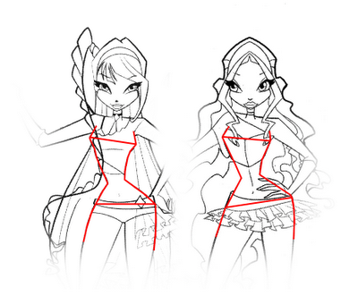 How to draw the fairy Blum with a pencil step by step 7