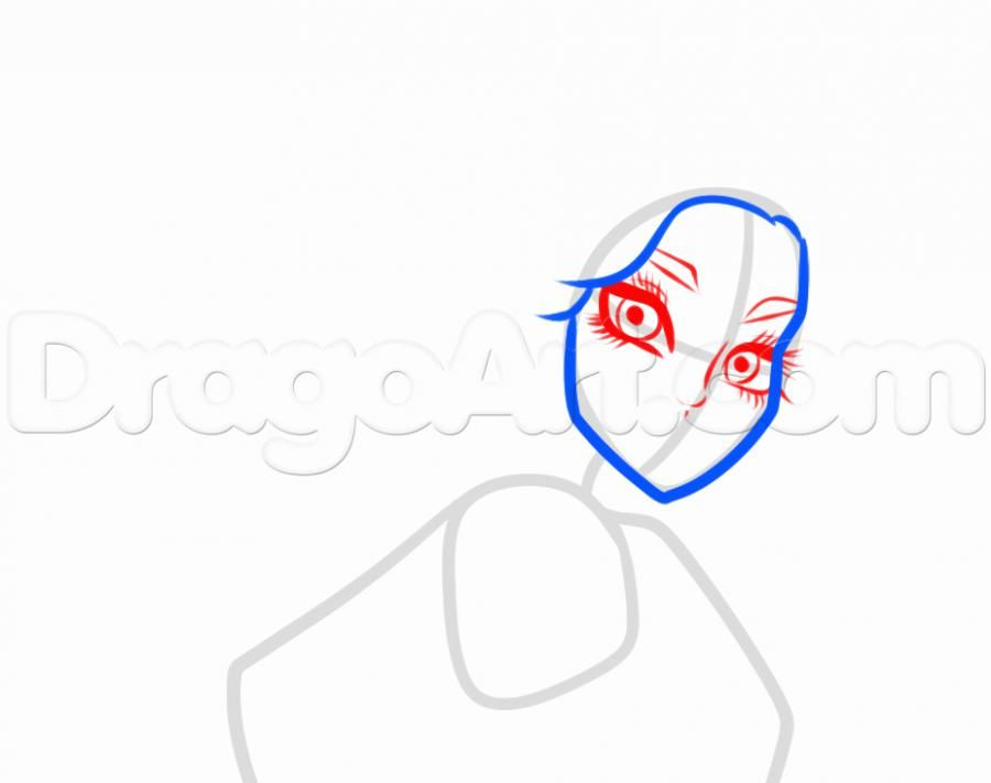 How to draw Ebbi Bomineybl with a pencil step by step 4