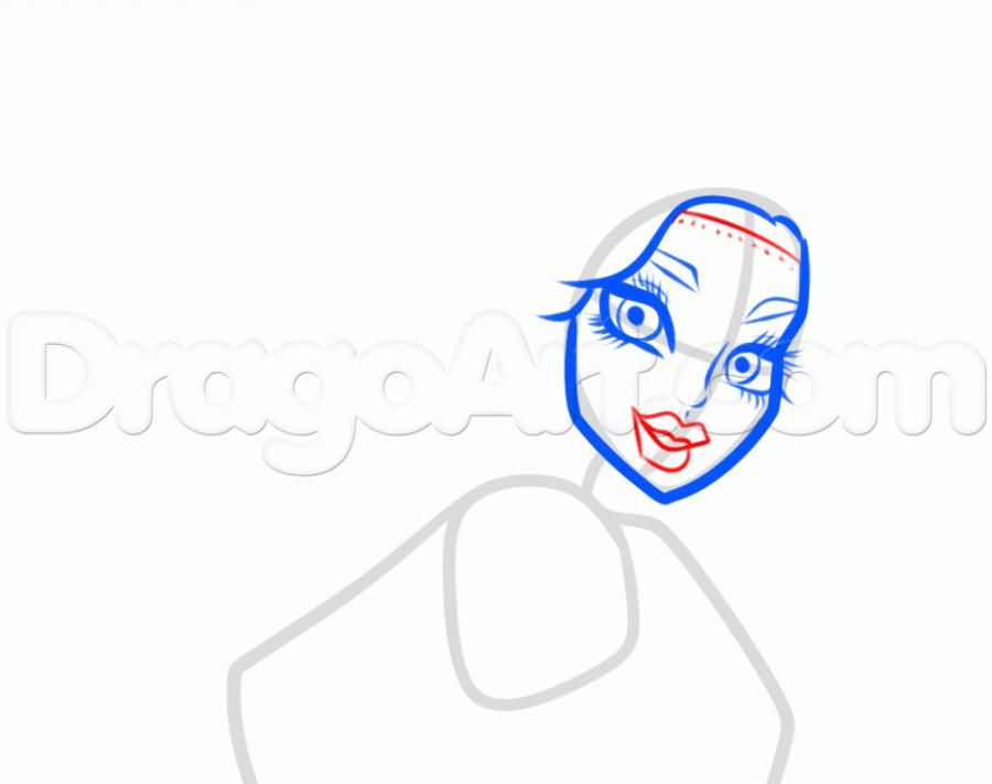 How to draw Ebbi Bomineybl with a pencil step by step 5
