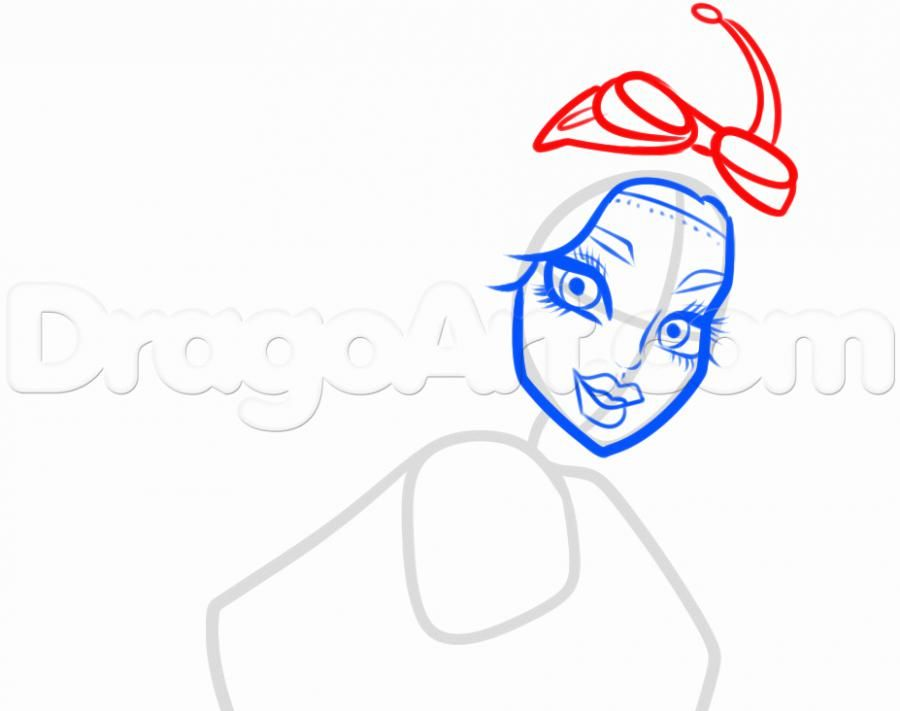 How to draw Ebbi Bomineybl with a pencil step by step 6
