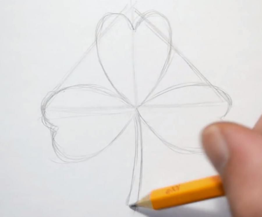 As it is simple to draw a snowdrop with a pencil step by step 2