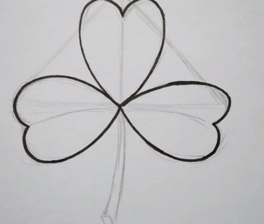 As it is simple to draw a snowdrop with a pencil step by step 3