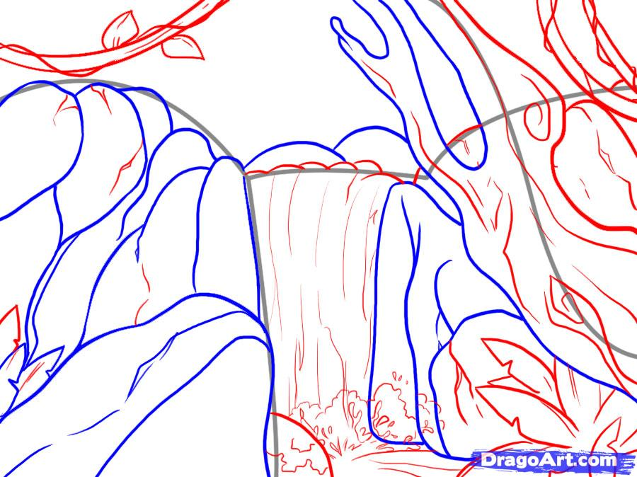 How to draw the Oak step by step 5